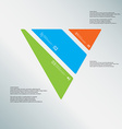 triangle template consists three color parts on vector image vector image