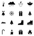 winter icon set vector image vector image
