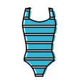 women swimming suit vector image vector image