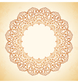 circular pattern of flowers vector image