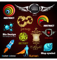 collection of glossy and 3d icons vector image