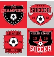 Soccer logo typography t-shirt graphics vector image