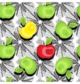 Seamless apple background pattern vector image