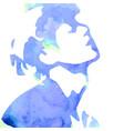 watercolor drawing man vector image
