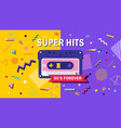 90s forever super hits music poster design vector image