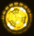 Abstract technology yellow background with circles vector image vector image