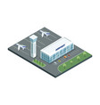 airport with planes and parking vector image