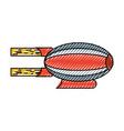 airship blimp cartoon vector image