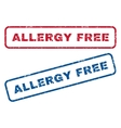 Allergy Free Rubber Stamps vector image vector image