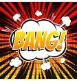 Bang comic book bubble text retro style vector image vector image