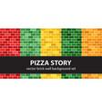 brick pattern set pizza story seamless brick vector image vector image