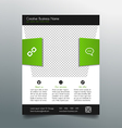 Business flyer template - fresh and modern design vector image vector image
