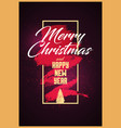 calligraphic christmas greeting card design vector image vector image