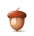 cartoon acorn nuts on the white background vector image vector image