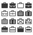case icons set on white background vector image vector image
