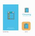 checklist company logo app icon and splash page vector image