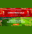 christmas discount banners red and green vector image