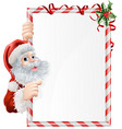 christmas santa sign vector image vector image