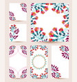 collection greetings cards vector image