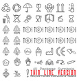 Collection of 45 Packaging Symbolsrecycle handle vector image