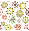 colorful folk seamless pattern background vector image