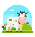 cow milk farm animal flat design flat design vector image