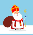 cute saint nicholas is coming to town with gifts vector image vector image