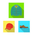 design of man and clothing symbol vector image