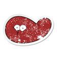 Distressed sticker a cartoon gall bladder