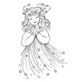 doodle fairy vector image vector image