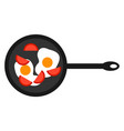 eggs with tomatoes on white background vector image vector image