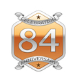 Eighty four years anniversary celebration silver vector image vector image