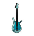 eletric guitar isolated vector image vector image