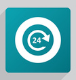 flat 24 hours service icon vector image vector image