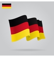Flat and waving German Flag vector image vector image