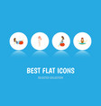 flat icon pregnancy set of meditation sport vector image vector image
