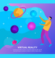 flat virtual reality background vector image vector image