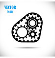 gears with timing belt drive chain mechanisms vector image