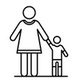 grandmother with nephew icon outline style vector image