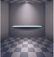 Grey room with shelf vector image vector image