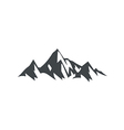 ice mountain hiking travel logo vector image vector image