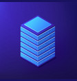 isometric big data tools concept vector image vector image