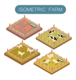 Isometric farm animals set vector image vector image