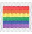 Knitted rainbow flag vector | Price: 1 Credit (USD $1)