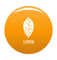 Lemon leaf icon orange