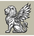 Lion statue with wings vector image vector image