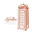 London Greeting Card vector image