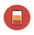 low battery flat icon vector image