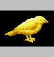 low poly with little yellow bird vector image vector image