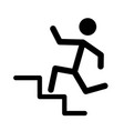 man running in stairways vector image